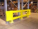 heavy duty double end of rack barrier