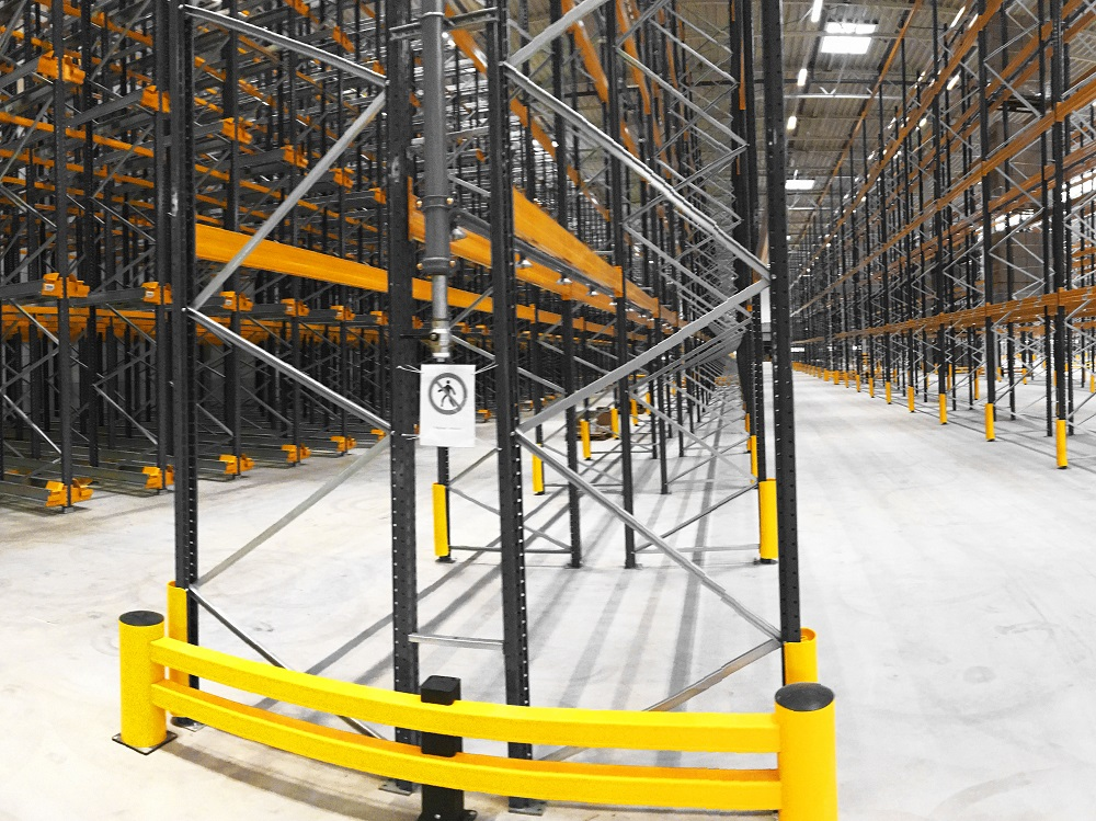 racking protection in warehouse