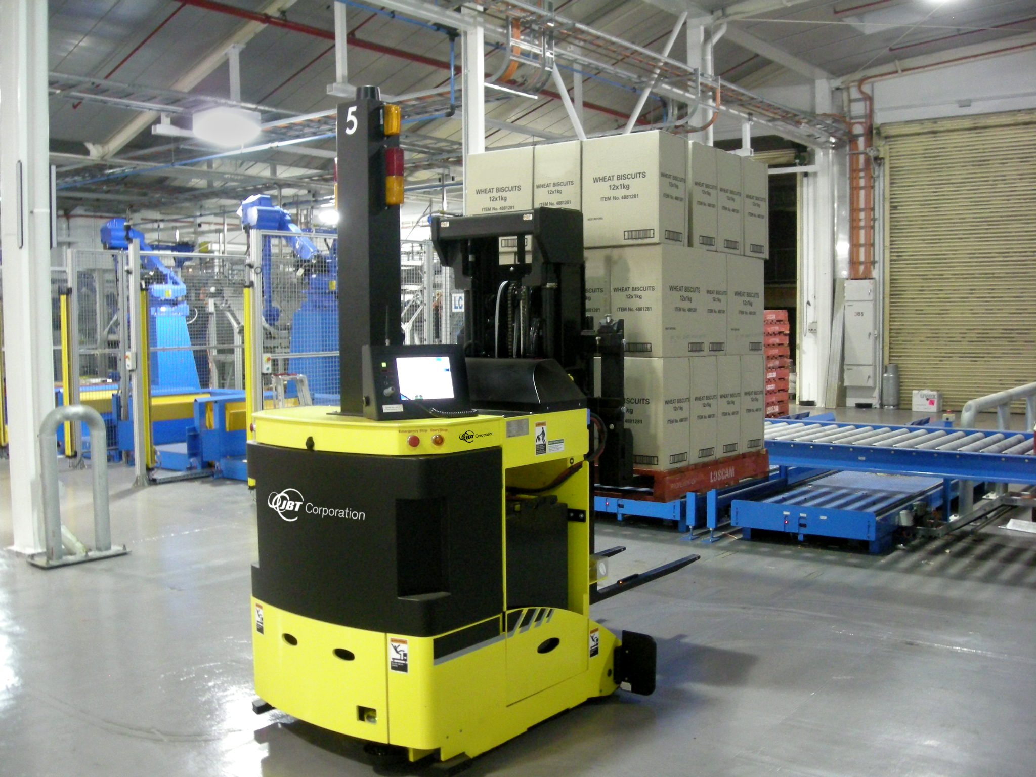 image of robot driverless forklift